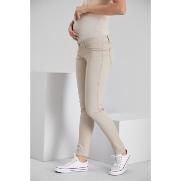 Slim Fit Narrow Leg Cotton Maternity Pants