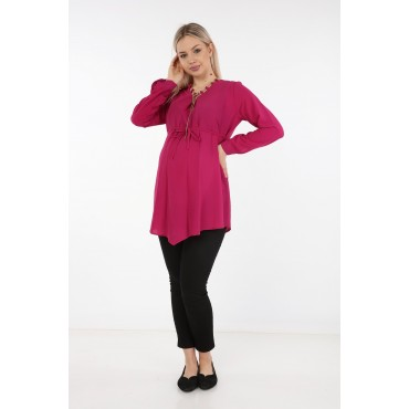 Chain Collar Crepe Maternity Tunic