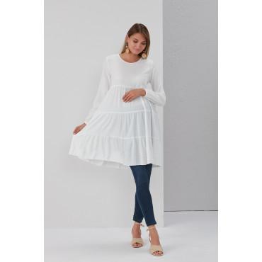 Layered Cut Skirt Maternity Tunic