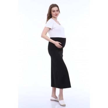 Maternity Wear Bell-Cut Fabric Skirt