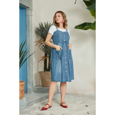 Tencel Maternity Dress with Mini Pockets