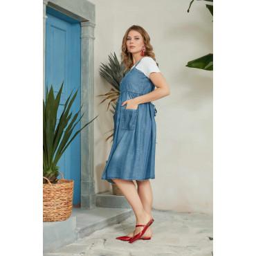 Tencel Maternity Dress with Mini Pockets