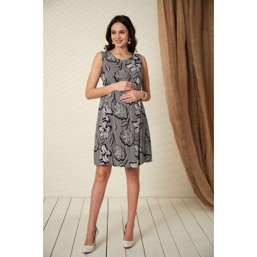 Poppy Viscose Maternity Gilet Dress