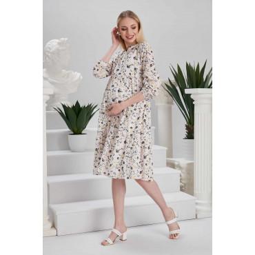 Wildflowers Cotton French Maternity Dress