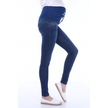 Soft Texture Printed Slim Fit Stretchy Jeans