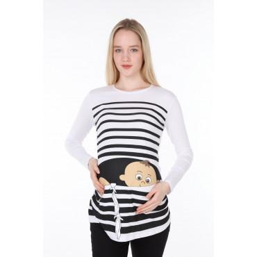 Crafty Escape Viscose Maternity Long Sleeve T-shirt