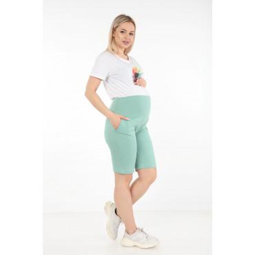 Cotton Lycra Maternity Combed Shorts