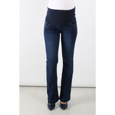 Double Rivet Half Spanish Trousers Maternity Jeans