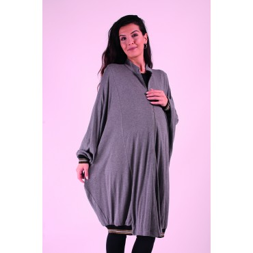 Mercerized Knit Sports Maternity Poncho