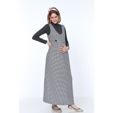 Crowbar Double Button Pregnant Maxi Dress