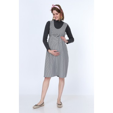 Crowbar Bow Mini Gilet Maternity Dress