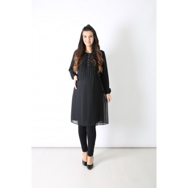Pleated Chiffon Maternity Tunic