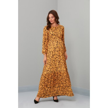 Babylon Creeper Pattern Maternity Maxi Dress
