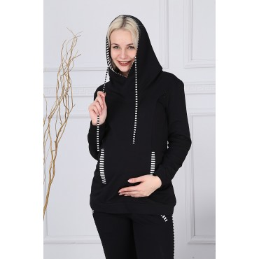 Line Combination Breastfeeding Detail Pregnant Tracksuit Team