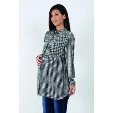 Babylon Crowbar Crep Maternity Blouse