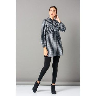 Breastfeeding Plaid Maternity Shirt