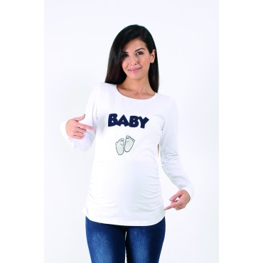 Embroidered Baby Pregnant Sweatshirt