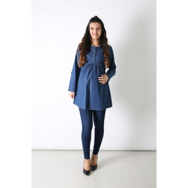 Ribbed Maternity Jeans Shirt
