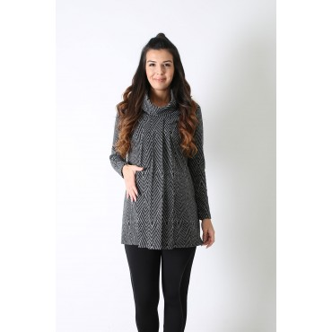 Pleated Degaje Maternity Wool Tunic
