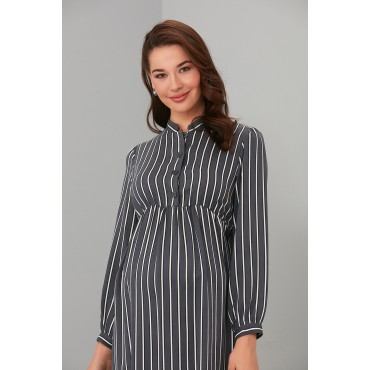 Striped Tencel Breastfeeding Maternity Tunic