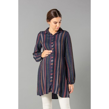 Acrylic Casual Cut Maternity Shirt
