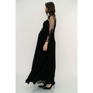 Guipure Tulle Maxi Maternity Evening Dress