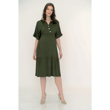 Verev Breastfeeding Button Belmando Maternity Dress