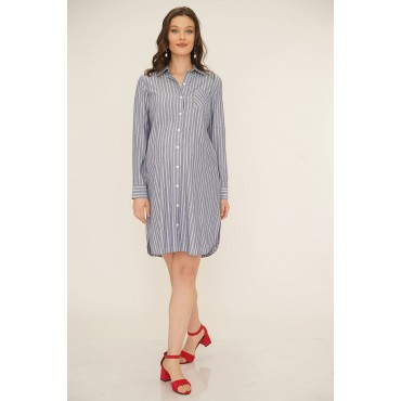 Striped Viscose Maternity Tunic Shirt