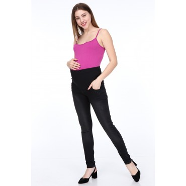 GRINDING NAIL SLIM FIT PREGNANT DENIM PANTS