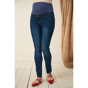Plus Size Soft Lcyra Maternity Jeans