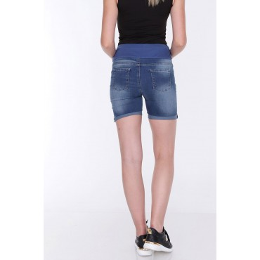 Pregnant Lcyra Denim Shorts