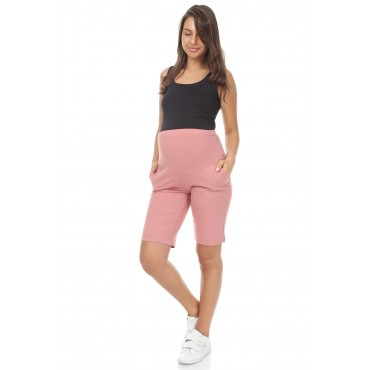 Cotton Lycra Maternity Combed Shorts