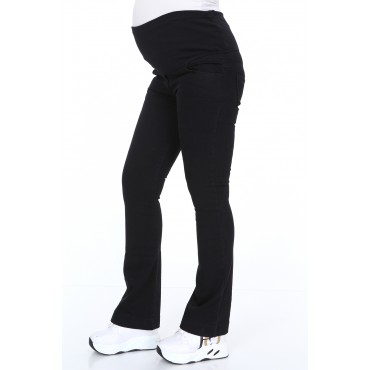 Lycra Cotton Half Spanish Leg Maternity Jeans