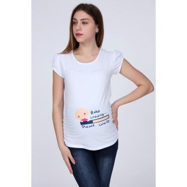 Baby Loading Short Sleeve Pregnant T-Shirt