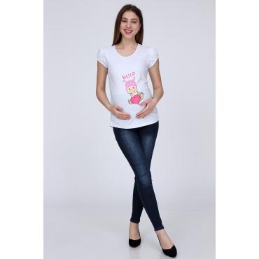 Heart Baby Short Sleeve Pregnant T-Shirt