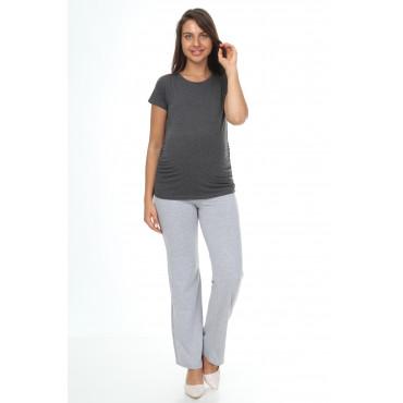 Cotton Lycra Zero Collar Short Sleeve Maternity T-Shirt