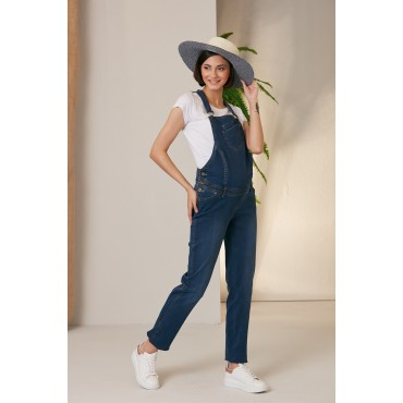 Double Pocket Sports Maternity Jeans Gardener-Overalls
