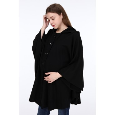 Hooded Maternity Stamp Cape