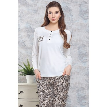 Leopard Nursing Maternity Pajamas Set
