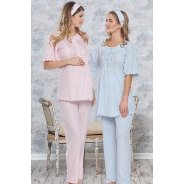 Breastfeeding Maternity-Maternity Pajama Set