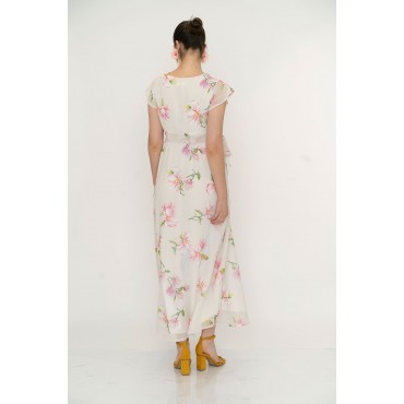 Orkide Flower Mini Cowl Maternity Maxi Dress