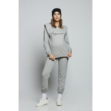Cozy Maternity Sweat Suits With Special Design Shoulder Pads
