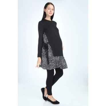 Steel Knit Viscose Combination Maternity Tunic