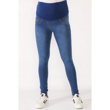 Knitted Texture Slim Fit Flexible Jeans