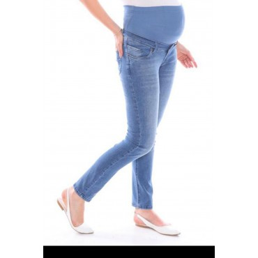 Piping Soft Texture Maternity Jeans