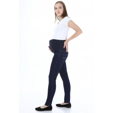 Slim Fit Straight Wash Maternity Jeans Skinny Leg Trousers