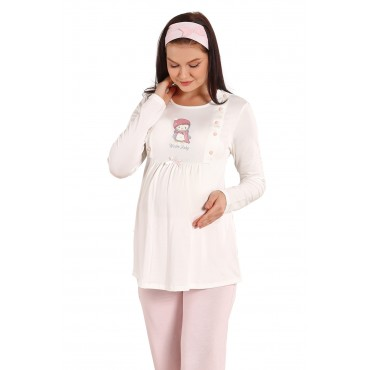 Scarfed Baby Maternity-Maternity Set Pajamas Set