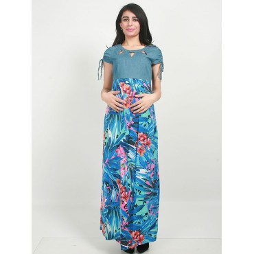 Maternity jeans Combi Patterned Dress