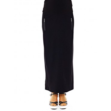 Maternity Clothes Zipper Pocket Skirt