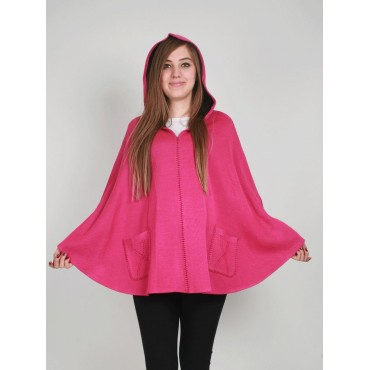 Maternity Wear Knit Hooded Poncho